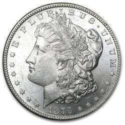 Obverse of the 1879 Morgan Dollar