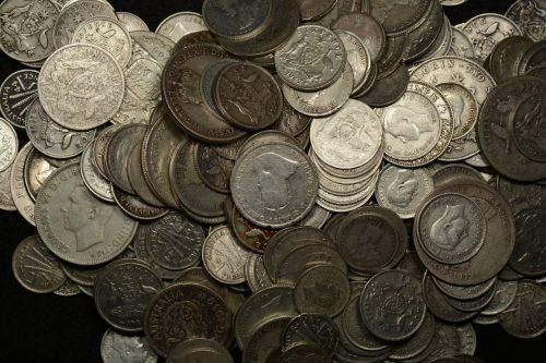 Australian Pre-Decimal Junk Silver Coins including the Crown, Shilling, 6 Pence and 3 Pence coins.